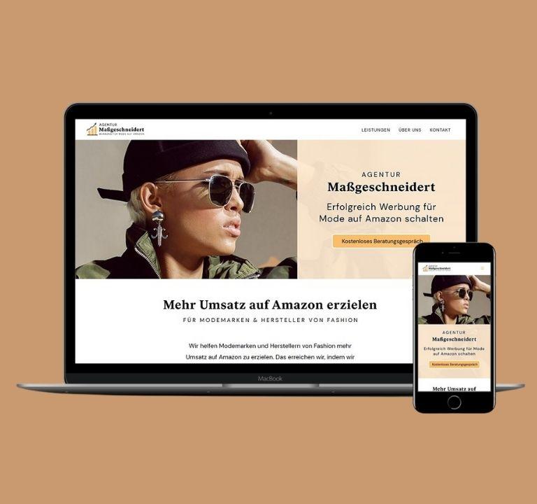 Agentur-Website für Modewerbung   www.werbung-fuer-mode.de